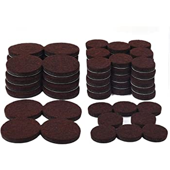 68 Pack Furniture Pads 1 Inch And 1 5 Inch Felt Furniture Pads Heavy Duty Adhesive Chair Leg Pads Floor Protectors For Your Wooden Floor Hardwood Hard Surface Furniture Protectors Brown Amazon Com