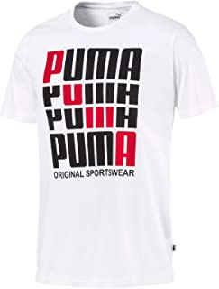 PUMA Men's Puma Repeat Brand Graphic Tee