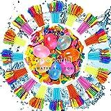 Olywee Globos de agua, 3 racimos de 111 globos multicolores auto-atados kits de recarga rápida para niños y adultos verano Splash Fun Water Fight Pool Party (color al azar)