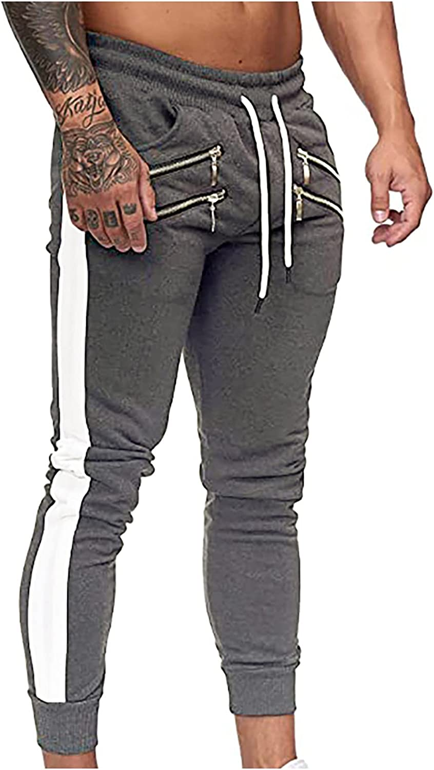 Men's Gym Jogger Max 68% OFF Pants Workout Max 56% OFF Athletic Joggers Running Training