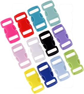 HOMYL 36pcs Mixed Color Plastic Side Release Buckles for webbing Quick Release Buckle Clip 10mm