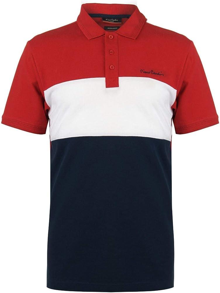 Pierre cardin cut and sew, polo, t-shirt, maglietta per uomo,100% cotone