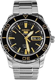 5 Sports Automatic Black Dial Stainless Steel Mens Watch SNZH57J1 by Seiko Watches