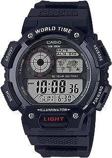 Casio Mens Quartz Watch, Digital Display and Resin Strap AE-1400WH-1AVDF