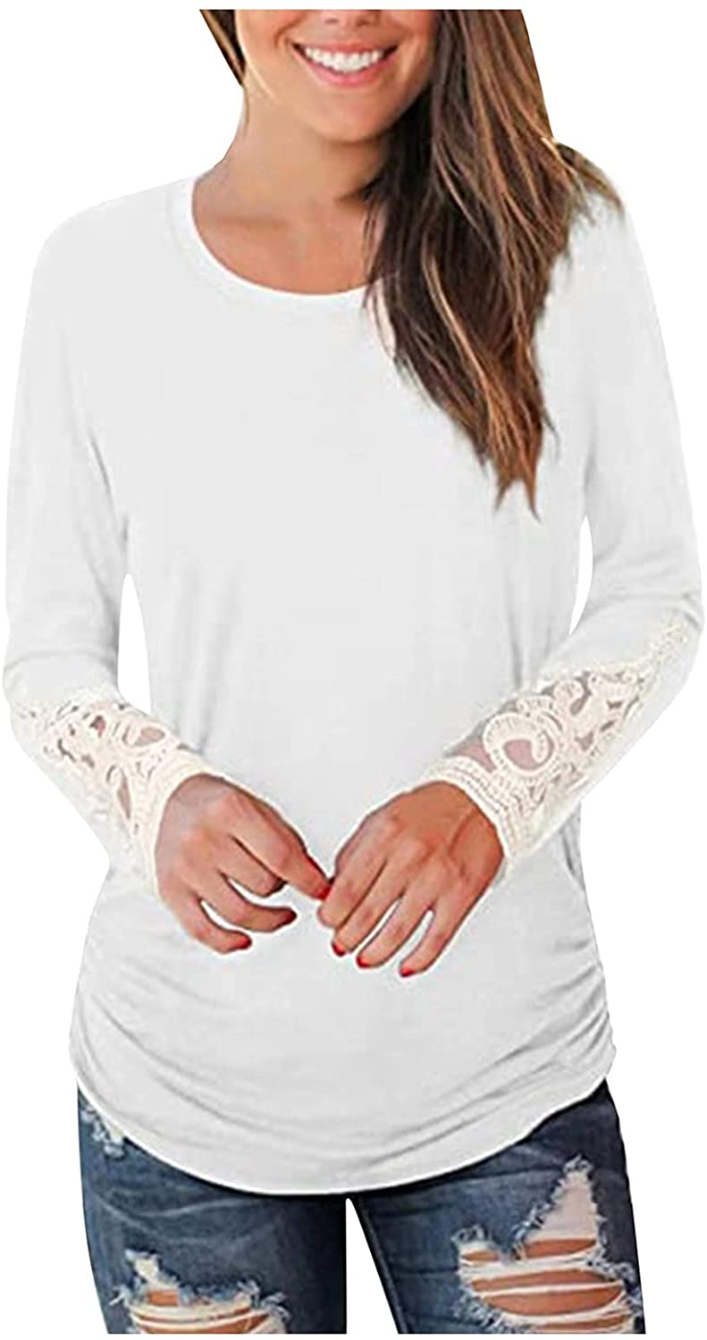 Hoodies for Women Casual,Women Stripe Loose Tops Twist Knot Long Sleeve Sweater Casual Blouse Shirt White