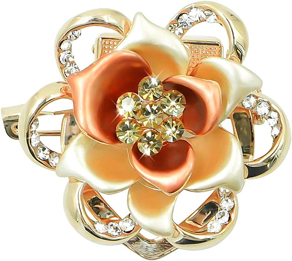 Lujuny Flower Scarf Clip Ring Limited Special Price Stewardess Sh Beauty products - Floral Triple-Ring