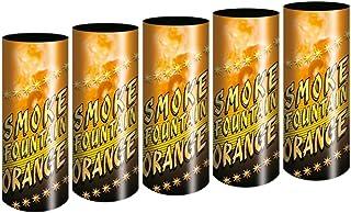 5 Stück h2i Bengalo Rauch Vulkan Fontäne Party Feuerwerk Rauchfarbe orange/Ganzjahresfeuerwerk Kat T1/F1