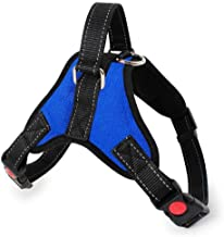 N/C No Pull Dog Vest Harness, Reflective Dog Body Padded Vest with Handle, Breathable Adjustable Dog Walking Harness Comfo...
