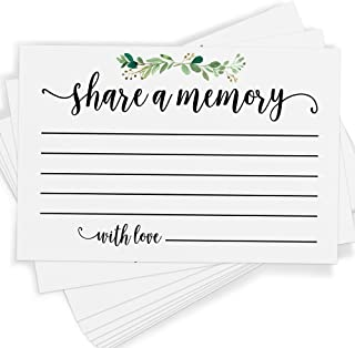 Share a Memory, Set of 25 Cards and Sign, Celebration of Life, Birthday, Wedding, Anniversary, and Retirement, Guest Book Ideas and Alternatives