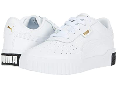 Puma Kids Cali (Little Kid) (White/Black) Girls Shoes