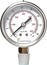 PI Controls UK Pressure Gauge, PG-63-R40-WF-BR