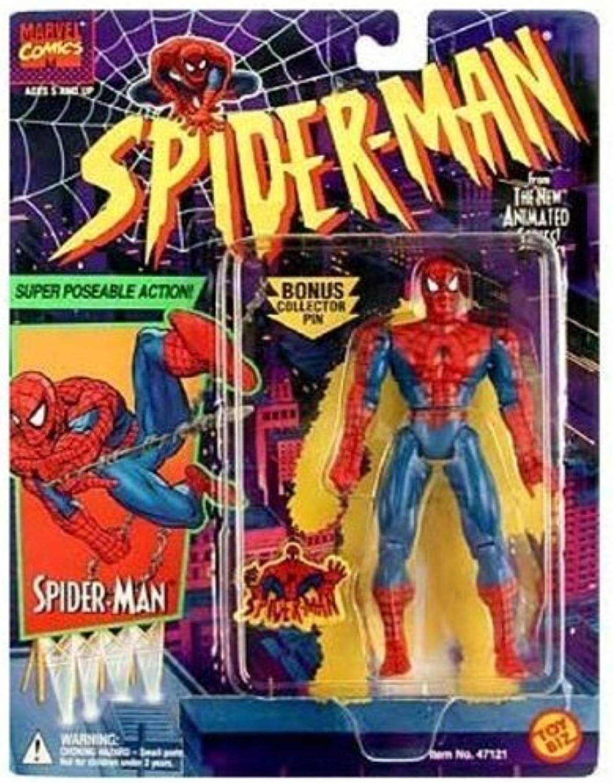 100% precio garantizado Spider-Man - súper Poseable Acción Figura - Bonus Pin - - - Marvel   Juguete Biz by Juguete Biz  nuevo sádico