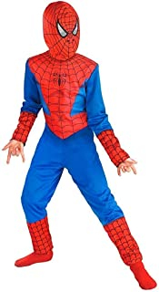 Dorsa Halloween Cosplay Mind Masala Spiderman Costume, an Ultimate Superhero Dress with Polyester Material for Kids Medium