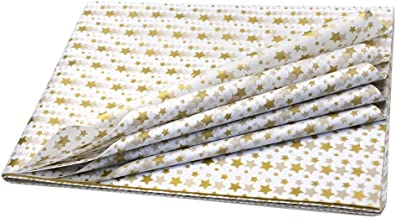 50 Sheets Gold Star Wrapping Paper 20 inch x 27 inch, Perfect for Gift Wrapping, Wine Bottles, Any Art Craft Idea