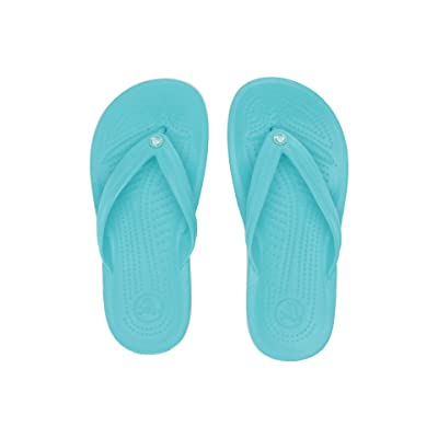 Crocs Crocband Flip (Pool/White) Shoes