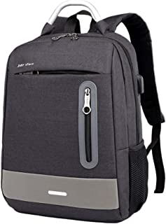 Mochila Antirrobo Impermeable, Mochila Portátil Unisexo 15.6 Pulgadas Puerto USB Impermeable Multifuncional Daypacks Negro