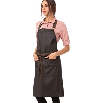 Purple//Black Chef Works Unisex Boulder Bib Apron One Size