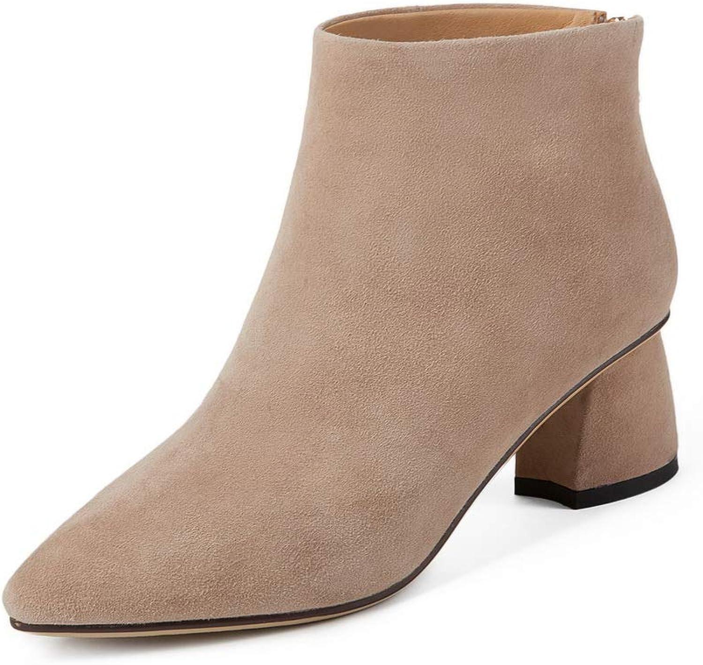 AdeeSu Womens Nubuck Warm Lining Low-Top Urethane Boots SXE04933
