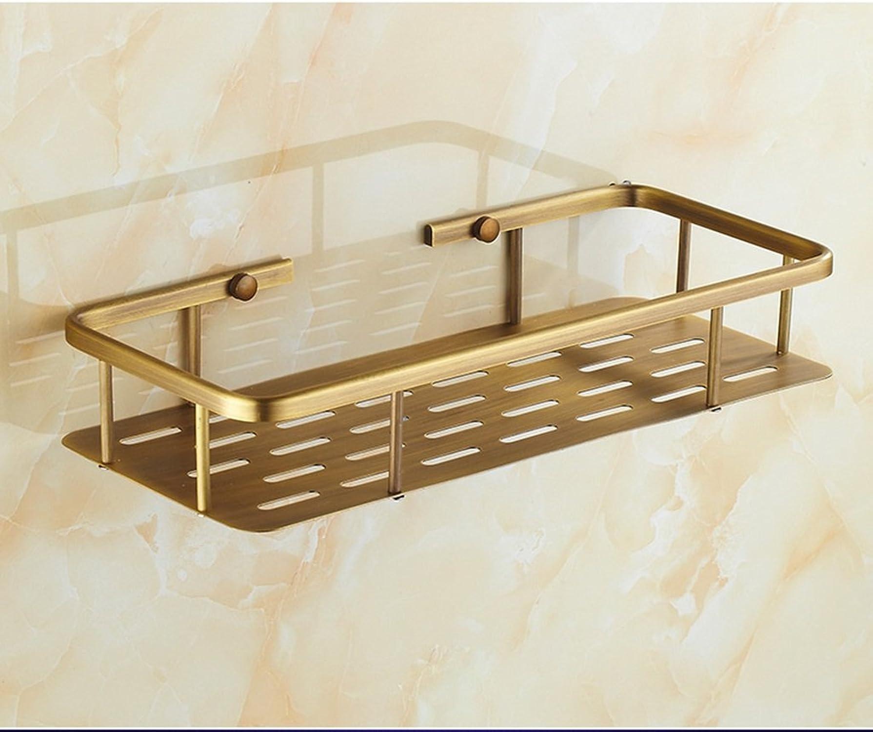 LI Jing Shop - Antigüedades Todo el ángulo de Bronce Estilo Europeo Accesorios de bao Estantería Esquina Marco Cuarto de bao Cuarto de bao sólido Cuarto de bao Racks