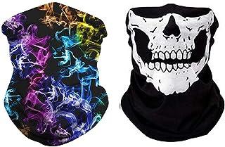 QKAIFRYSUG Face Scarf Bandanas Sports Casual Headwear Seamless Neck Gaiter, Headwrap, Balaclava, Helmet Liner 2pcs