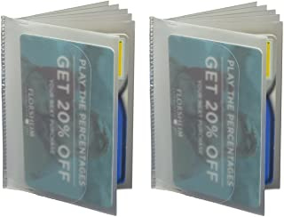 SET of 2 - 6 Page Plastic Wallet Insert for Bifold...