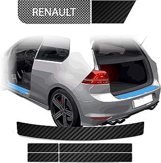 BLACKSHELL Ladekantenschutz + Einstiegsleisten Set inkl. Premium Rakel für Twingo 3 Facelift ab 2019 Carbon Matt   passgenaue Lackschutzfolie, Auto Schutzfolie