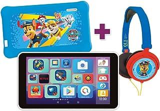 """Lexibook- LexiTab Master Bundle Paw Patrol Chase-Tablet per Bambini da 7"""" con App di apprendimento Giochi parentali Contro..."""