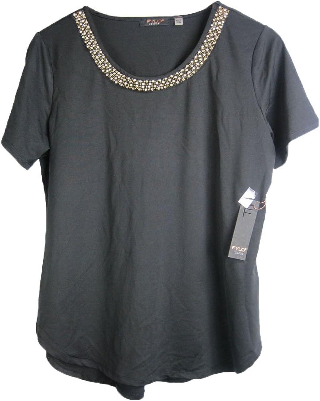 Fylo London Women's Fashion Blouse (Size M, color Black)