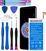 Galaxy S9 Plus Battery, MAXBEAR [3800mAh] Lithium Polymern Internal Battery Replacement for Samsung Galaxy S9 Plus SM-G965 EB-BG965ABA G965U G965F G965W with Repair Tool Kit.[12 Month Warranty]