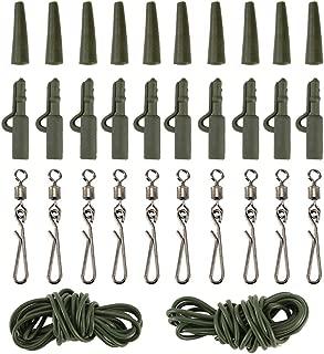 LNIMIKIY 10 pivotes de Pesca de Acero Inoxidable Resistentes a la corrosi/ón con Triple conexi/ón r/ápida