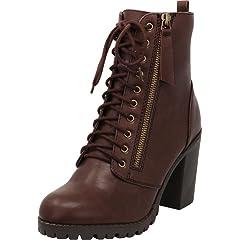 37b5b2b3b3903 Chunky heel platform boots - Mid-Calf - Casual Women's Shoes