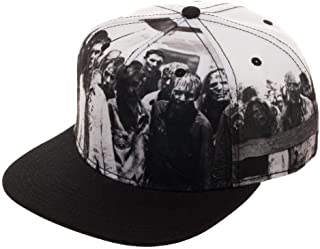 The Walking Dead Black and White Photo Art of Walkers Snapback Hat