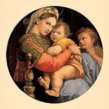 kunst für alle Art Print/Poster: Raphael Madonna Della Sedia Madonna Della seggiola Picture, Fine Art Poster, 39.4x39.4 inch / 100x100 cm