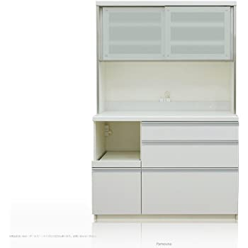 [高さ178cm] Pamouna(パモウナ) QFシリーズ QF-1200R 食器棚 [引き戸] (幅120cm, 奥行き50cm, プレーンホワイト)