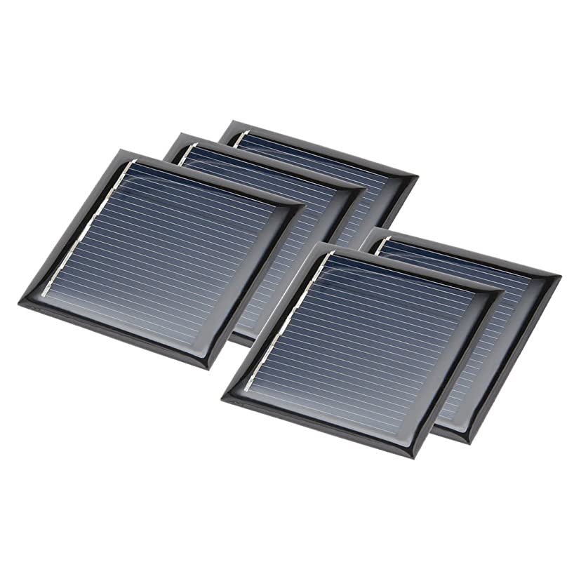 uxcell 5Pcs 2.5V 100mA Poly Mini Solar Cell Panel Module DIY for Phone Light Toys Charger 50mm x 50mm