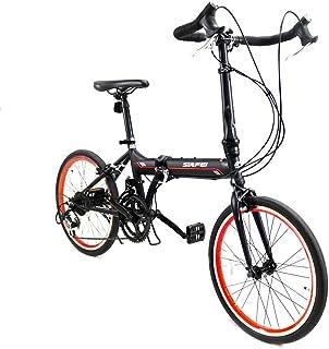 折りたたみ自転車 折り畳み自転車 ロードバイク ドロップハンドル 20インチ 2*7段変速 ワイヤ錠・LEDライトのプレゼント付き 通勤通学 軽量 軽くてスピード感あり 4色選べる 16