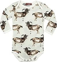 MilkBarn Organic Cotton Long Sleeve One Piece, Goats