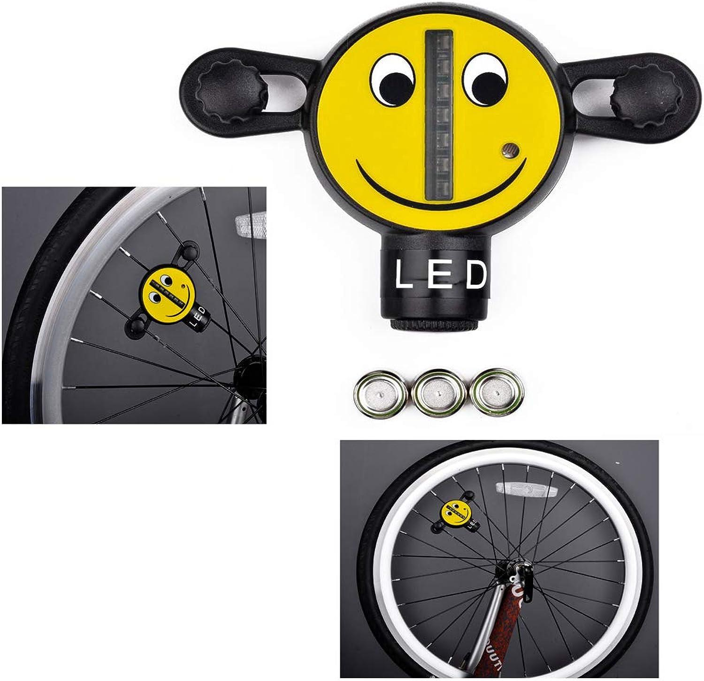 Bicycle Spoke Light Waterproof Mountain Bike Rim Lights Spoke Lights Cycling Universal Decorative Warning 3D Smiley Face