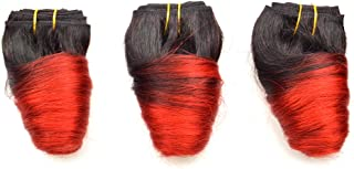 2019 Hot Selling Cheapest Indian Human Hair omber short 8 inch Wholesale price loose wave weave wefts shipping 3 days