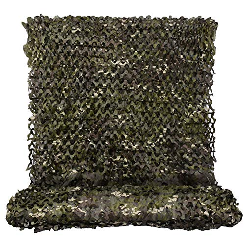 HYOUT Woodland Camouflage Netting,Jungle Maple Camo Net for Hunting Shooting Blind Camping Military Party Decoration Watching Hide (CP Woodland, 5ftx20ft/1.5mx6m)
