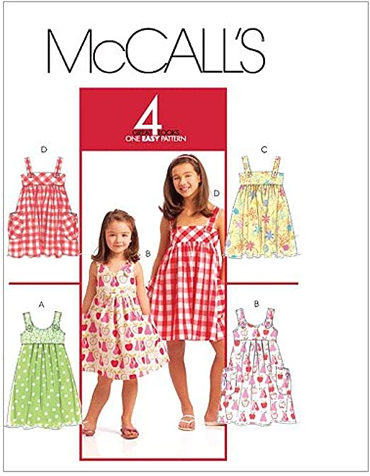 McCalls Patterns M6388 Childrens//Girls Tops 6-7-8 Size CL Dresses and Leggings