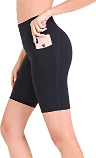 FANDIMU Women High Waiste Compression Yoga Shorts with Pocket