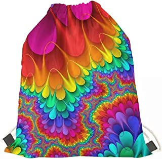 GIFTPUZZ Men Women Fashion Drawstring Backpack String Bag Sackpack Cinch Bags for Gym Shopping Sport Yoga Teenagers