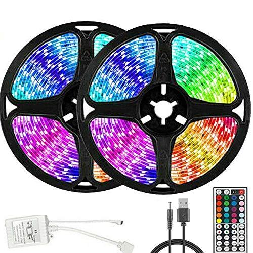 Tira de luces LED 20 m 3528 RGB, regulable con mando a distancia, cambio de color, cinta LED autoadhesiva para casa, fiesta, bar, casa, TV, decoración de cocina