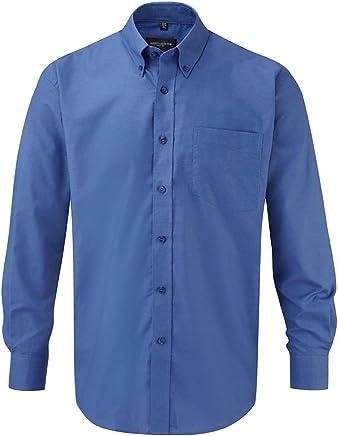 Russell Collection pflegeleichtes Langarm Oxford-Hemd R-932M-0 3XL,Aztec Blue
