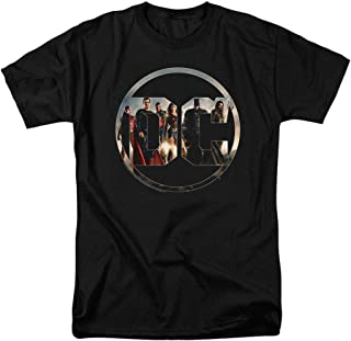 Justice League Movie DC Comics Logo T Shirt & Stickers