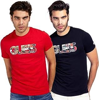 Guess - Camiseta Logotipo Frontal Red - M1GI78J1311TLRD - Red
