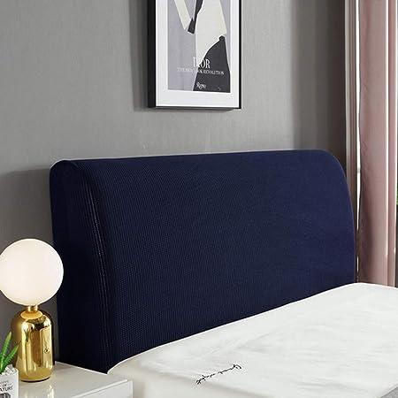 Copri Testata Letto Matrimoniale Imbottita In Cotone Copritestata All-inclusive Cover Decorazione Camera Letto,Blue-120x60CM Elastica Fodera Blu//Bianco