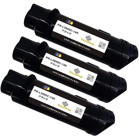 【大容量黒 3個セット】NEC PR-L5800C互換トナー BK×3 黒のみ「3個セット」 印刷可能枚数:2000枚ぐらい/色(A4用紙で5%印字率の場合)対応機種:NEC ColorMultiWriter5800C/PR-L5800C 国際規格ISO9001認証工場生産 ICチップ搭載 【DoraShop】