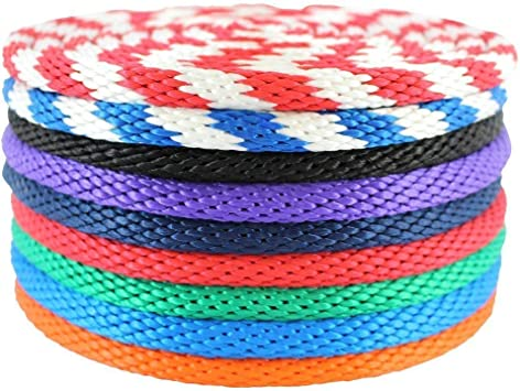 Tree Work Knot and Tie-Random Color Clothesline Canoes Camping Tent ANNIUP 2 Pcs Multifunction Diamond Braid Nylon Rope,Polypropylene Rope Braided Poly Rope for Flagline